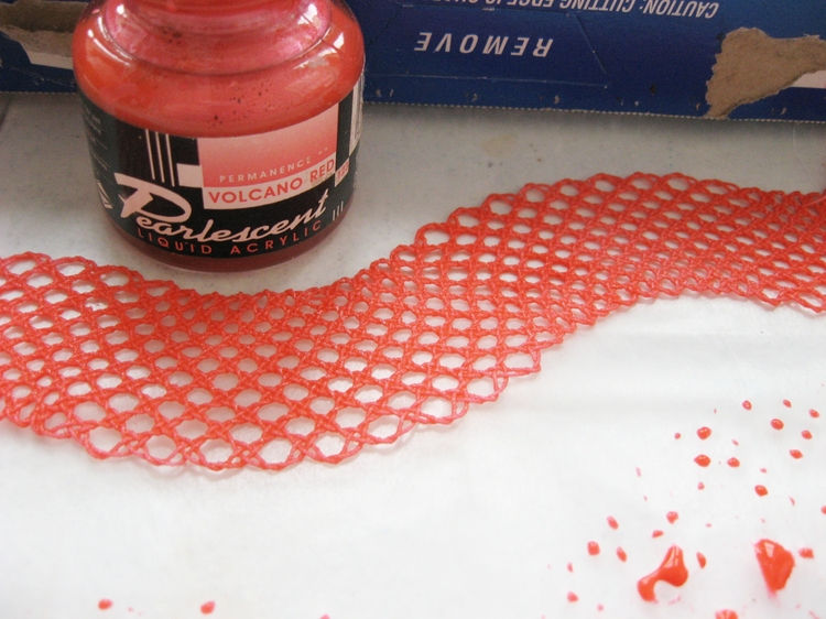 how to make lace hard