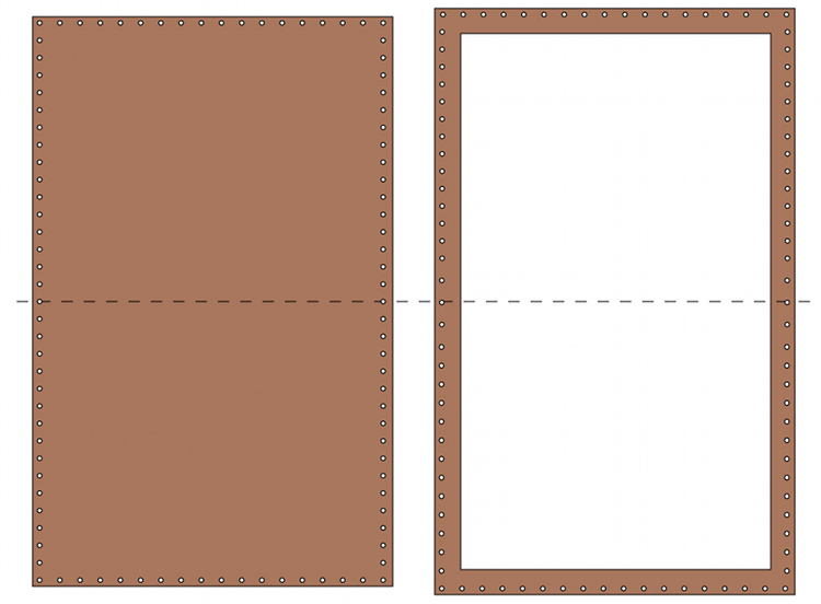 Make a pattern for a leather wallet