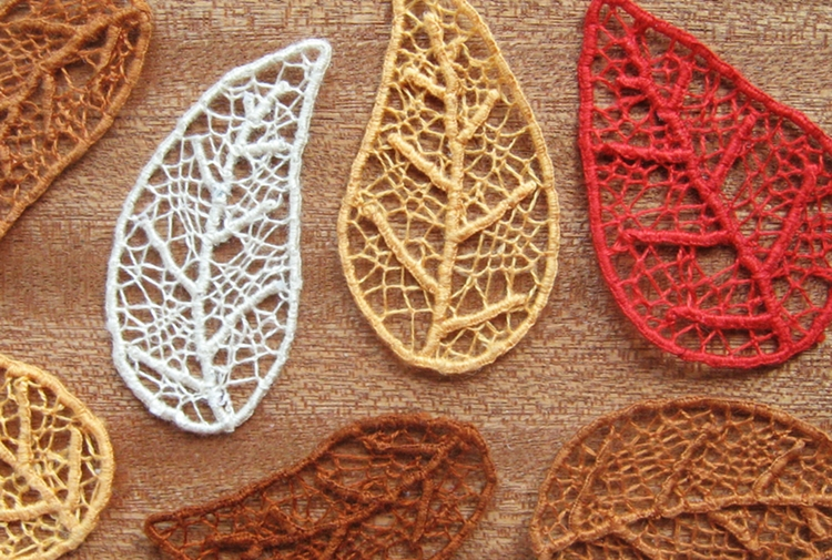 Needle Lace Skeleton Leaves - How Did You Make This? | Lue DIY
