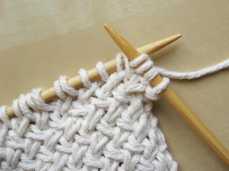 Diagonal Basketweave Knitting Pattern