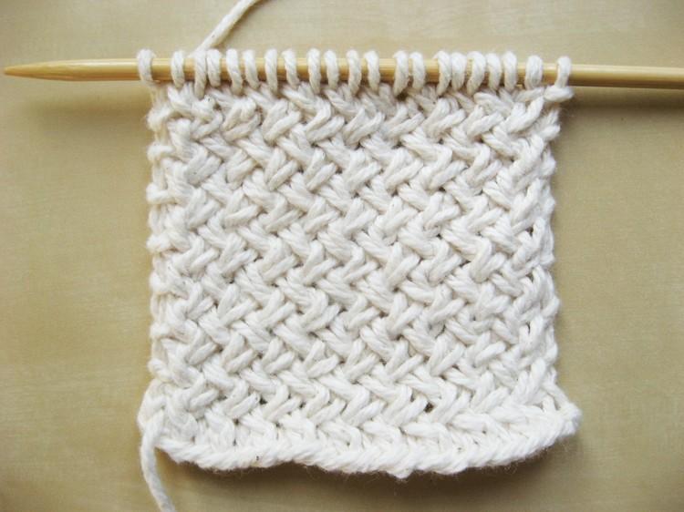 斜め編みの編み方