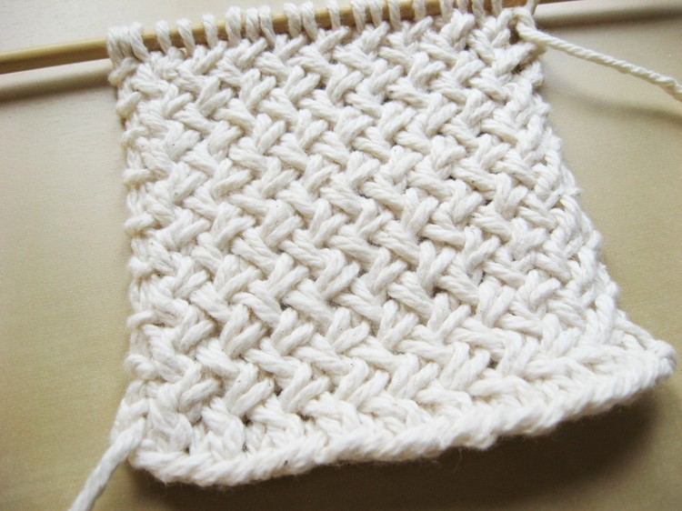Diagonal Basketweave Knitting Pattern - How Did You Make This? Luxe DIY