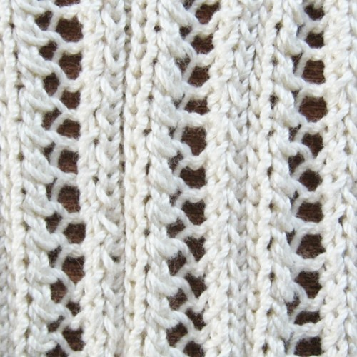 Eyelet Lace Ribbing Knitting Pattern