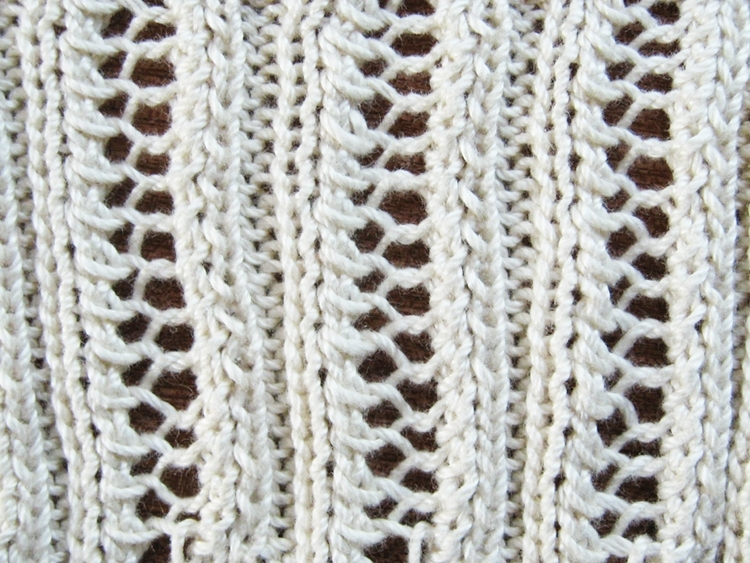 Knitting Stitches Eyelet Lace : Eyelet Lace Ribbing Knitting Pattern - How Did You Make This? Luxe DIY