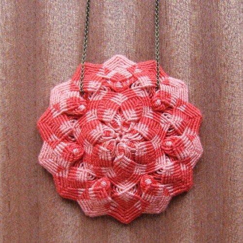 Knotted Flower Pendant