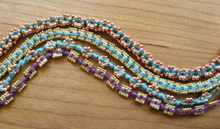 Beads and Threads Bracelet