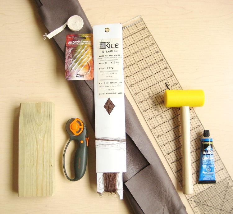 supplies for leather tote bag