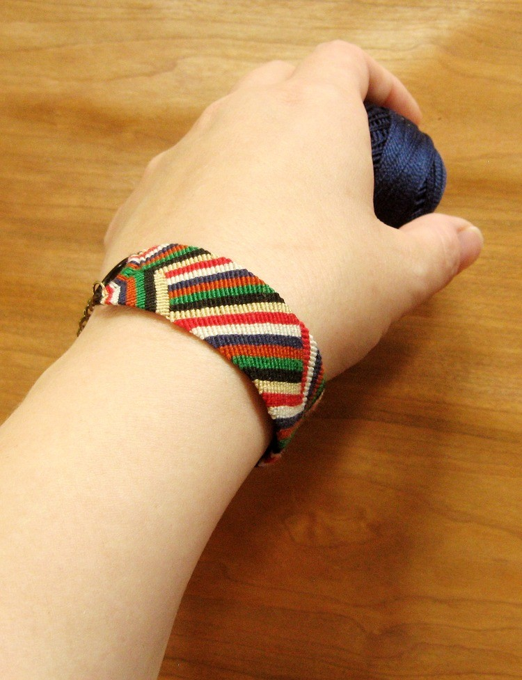 Micro Macrame Bracelet With Rings