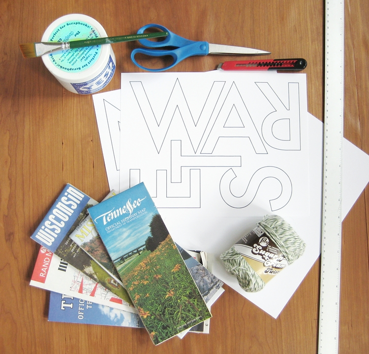 supplies for word garland