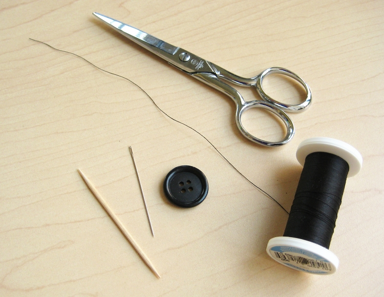 supplies to sew a button