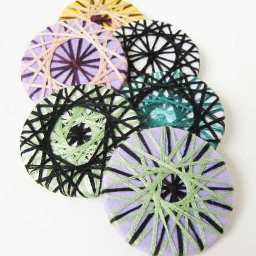 Spiral Embroidered Pins