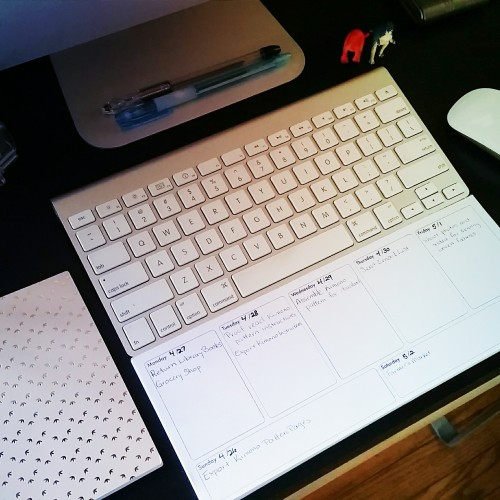 Notepad Desk Calendar