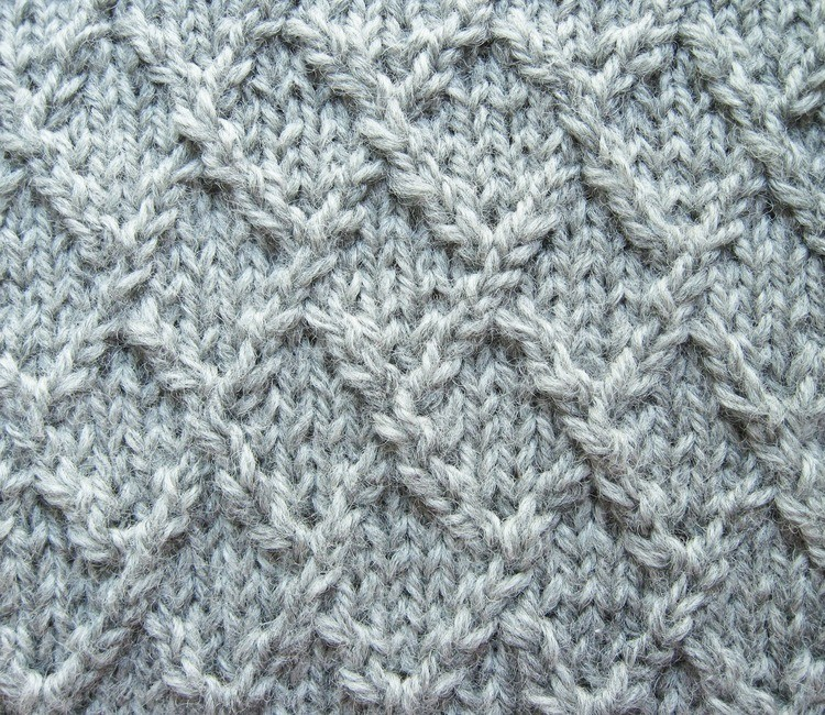 Lattice, Lozenge, or Diamond Knitting Stitch