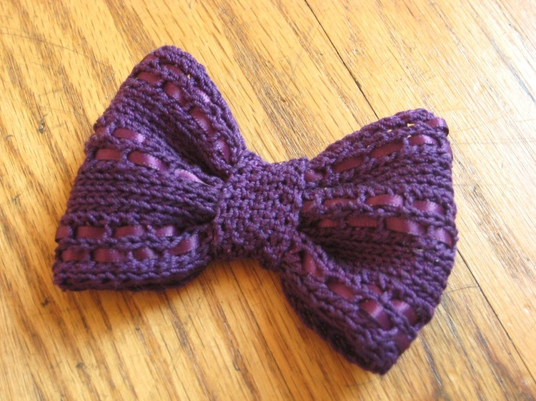 Eyelet Knit Bow How Did You Make This Luxe Diy