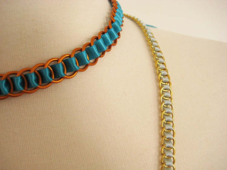 Ribbon Woven Chain Necklace - How Did You Make This? | Luxe DIY