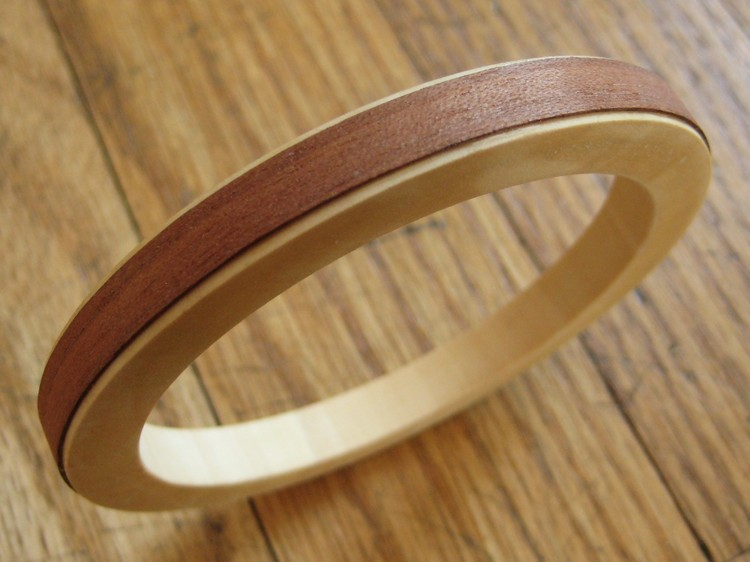 Two Tone Wood Bangle Bracelet How Did You Make This