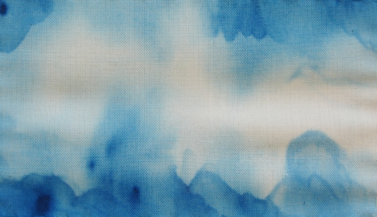 Acrylic Paint Clouds On Fabric