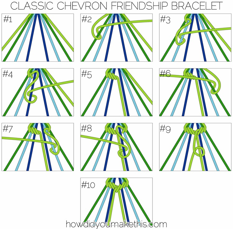 Classic Chevron Friendship Bracelet How Did You Make This Luxe Diy