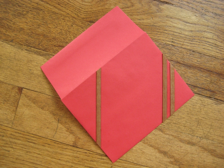 Applying wood veneer to paper how did you make this for Wood veneer craft projects