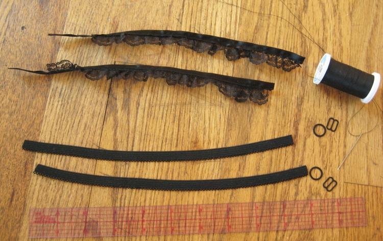 Handmade decorative bra straps