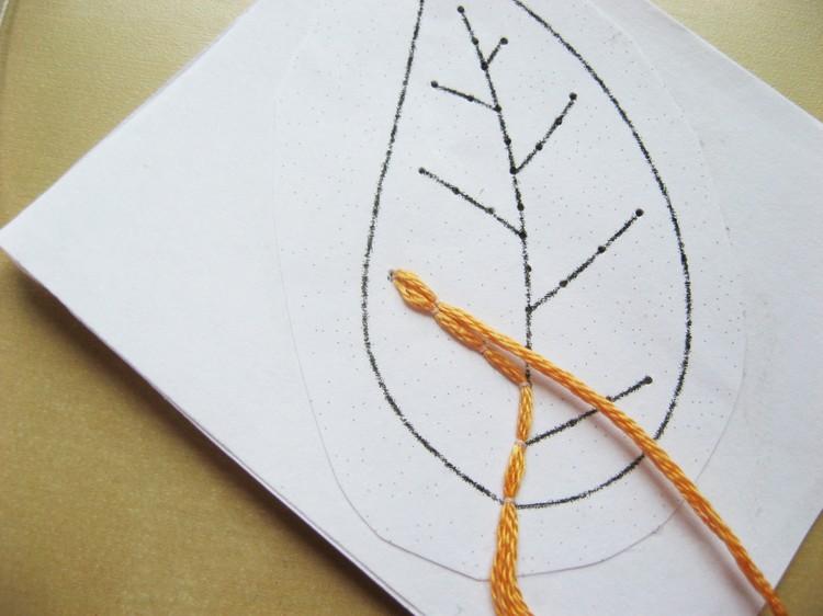 Needle Lace Skeleton Leaves