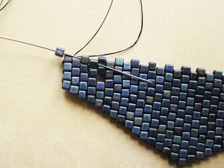 Beaded Triangle Pendant