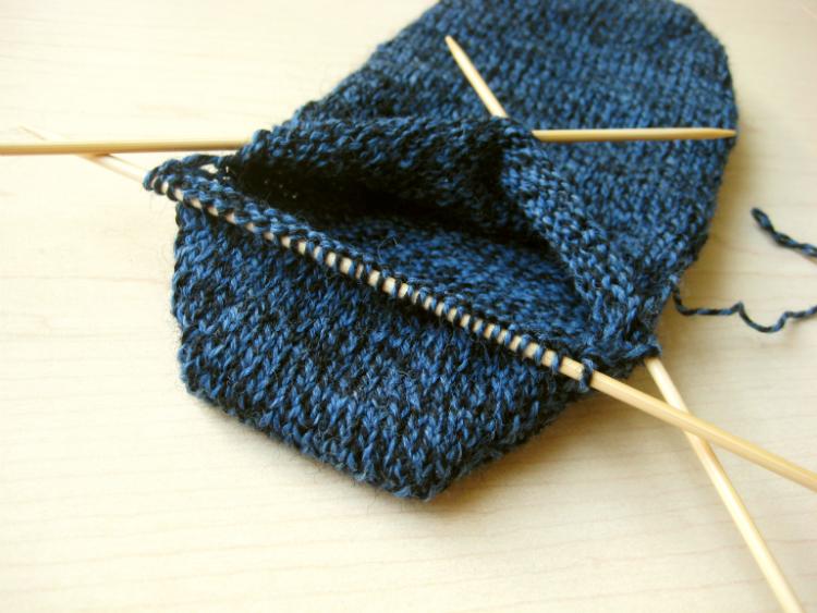 Wrap and Turn Sock Heel