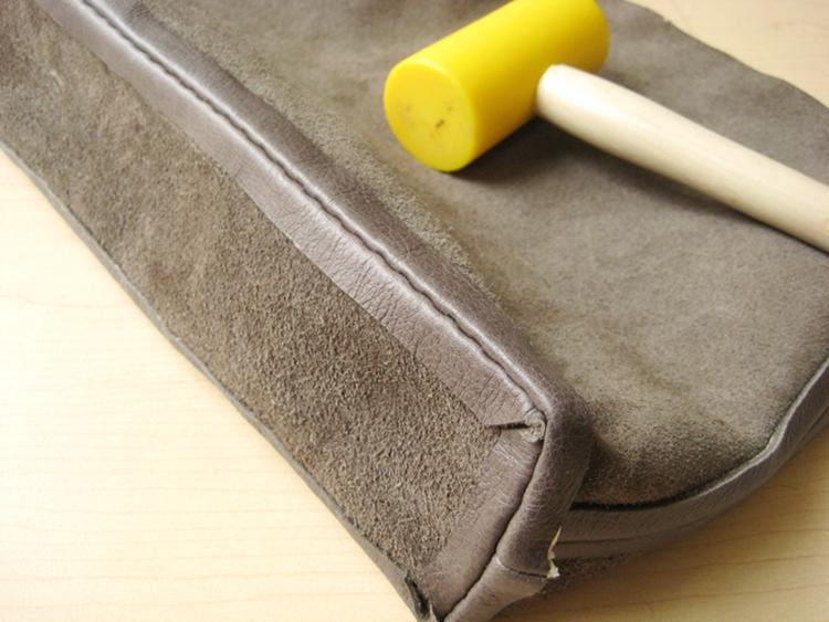 leather bag bottom