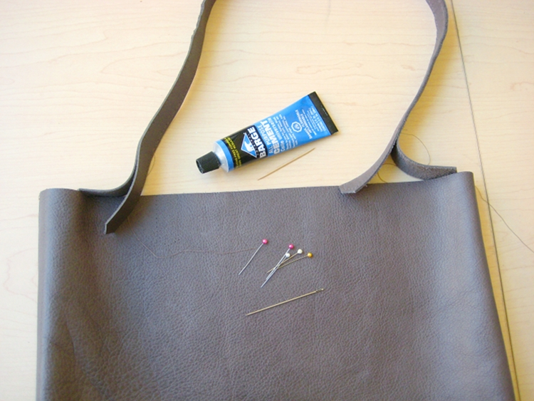 attaching leather bag strap