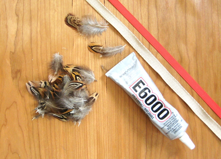 feather headband supplies