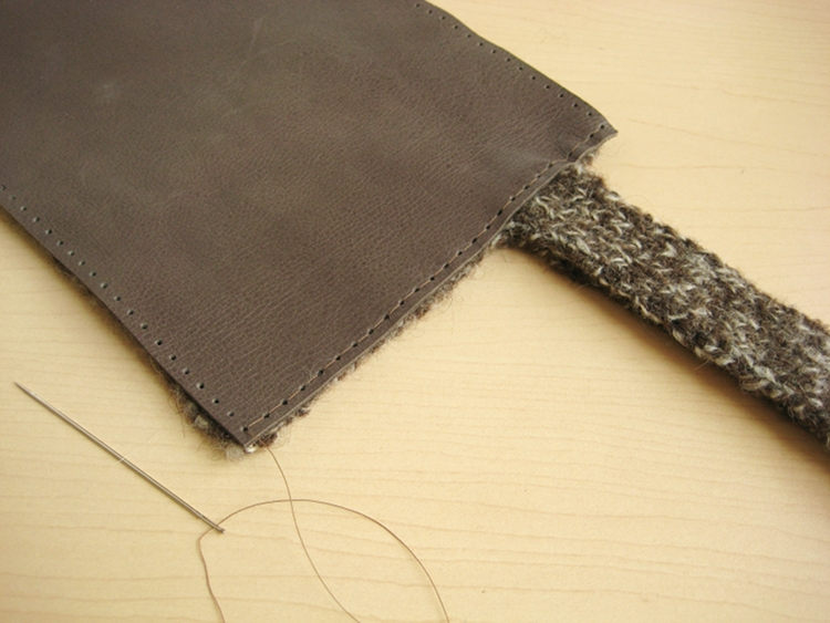 sewing wool and leather