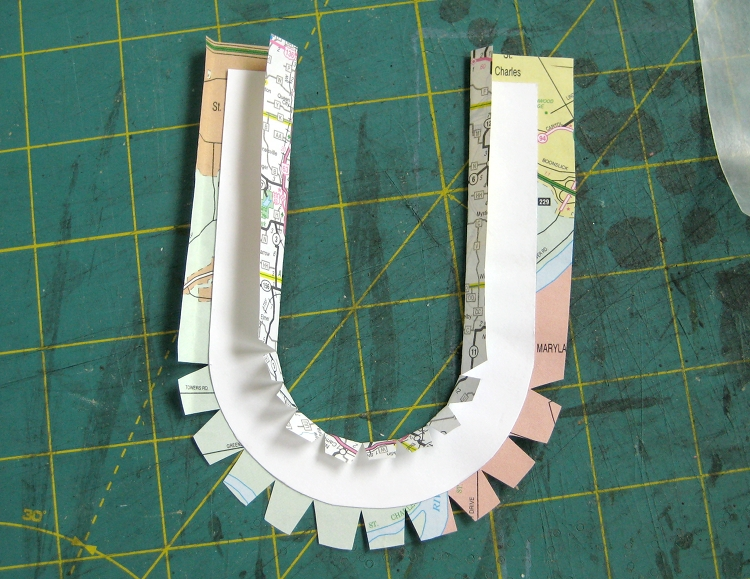 gluing paper letters