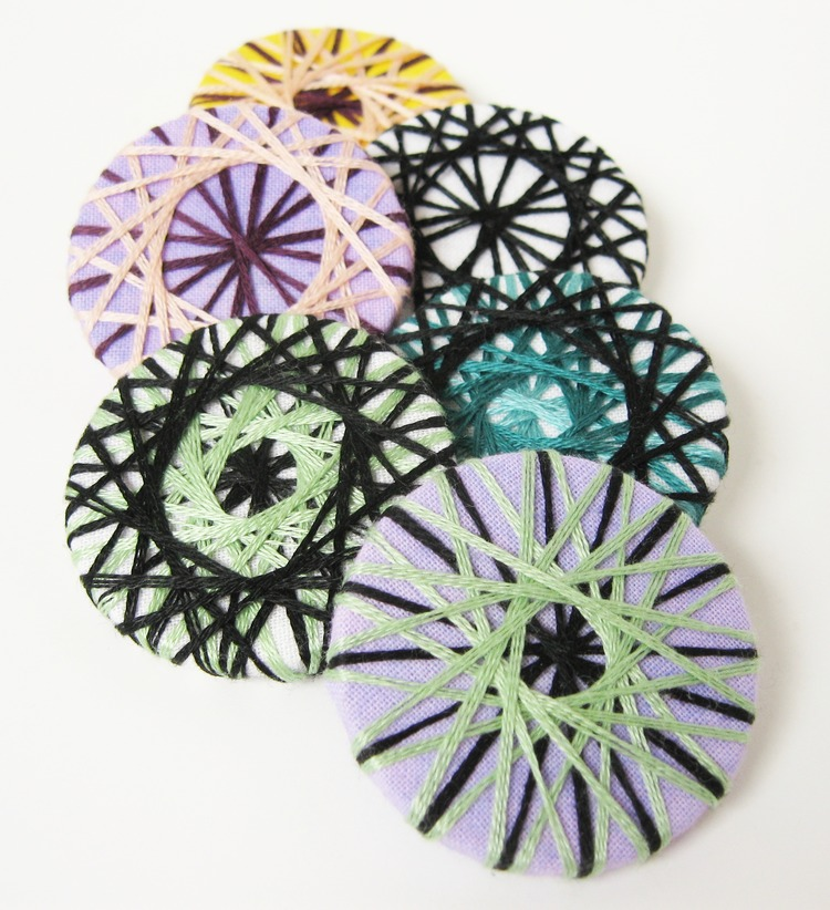 Spiral Embroidered Pins How Did You Make This Luxe Diy