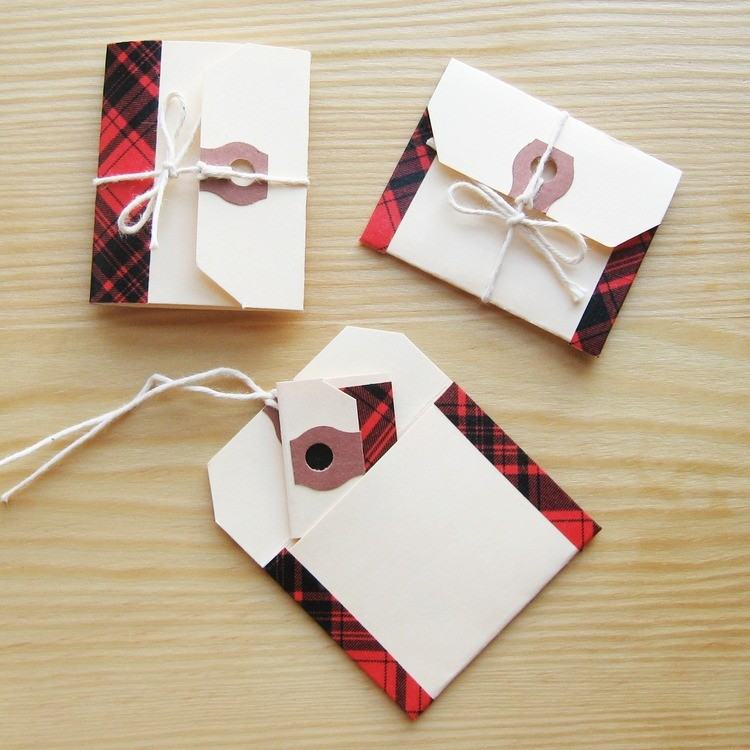 Mini Envelopes and Notebooks from Shipping Tags