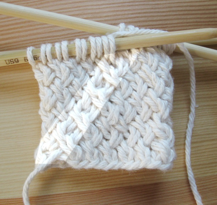 Diagonal Basketweave In The Round - HDYMT? Knitting