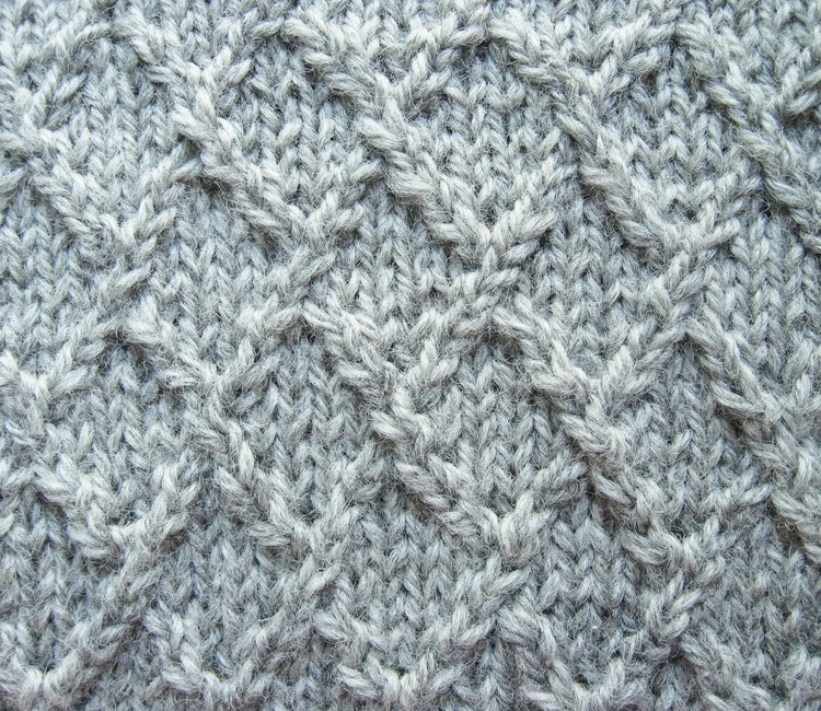 Lattice, Lozenge, or Diamond Knitting Stitch - How Did You Make This? | Luxe DIY