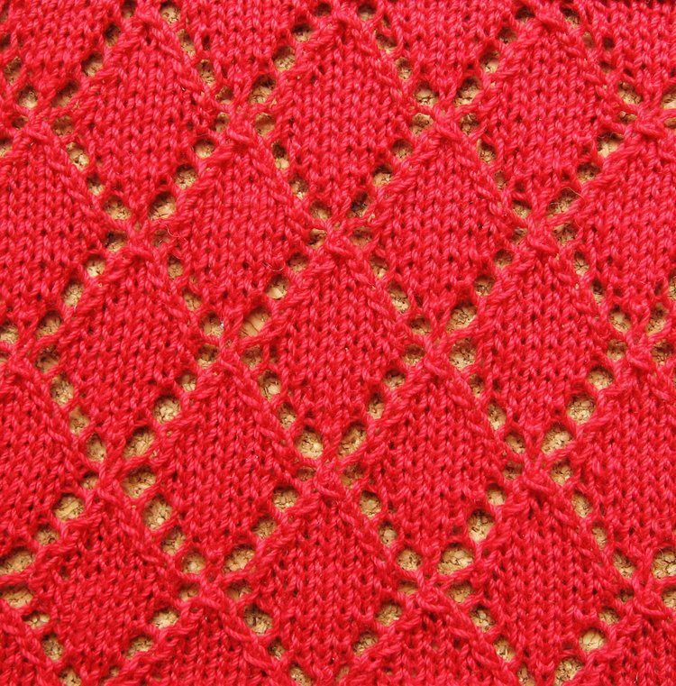 Lozenge Stitch Diamond Stitch Or Diamond Lace Stitch Knitting Inspiration Diamond Knitting Pattern