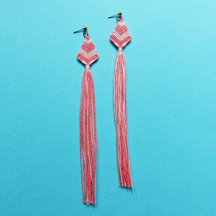 Macrame Tassel Earrings How Did You Make This Luxe Diy